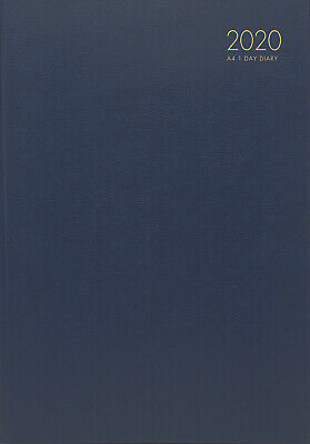 2020 Milford Windsor Diary A4 Day to Page Navy 441001