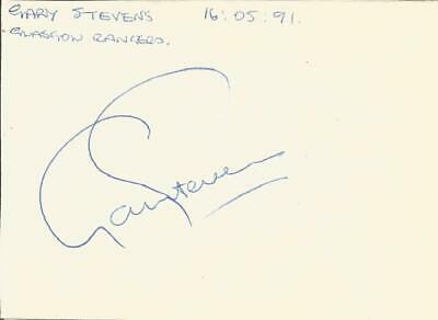 Football Autograph Gary Stevens Everton Signed Paper Piece 16 May 1991 - F1591