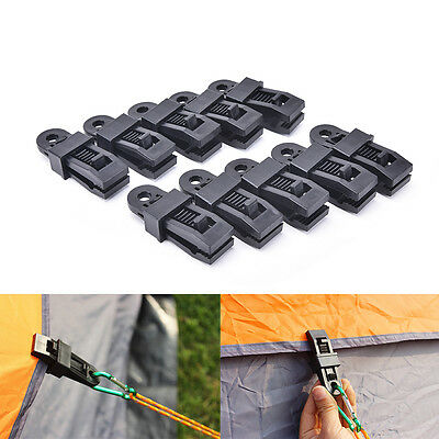 Awning Tarp Clamp Set Clips Hangers Survival Tent Emergency Grommet  KY