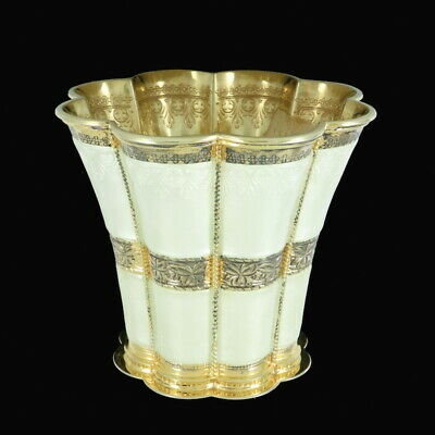 A. Michelsen. Margrethe Cup. Gilded Sterling Silver with Enamel. 1971.