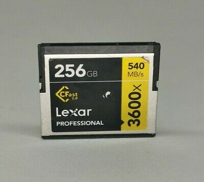 Lexar 256GB 3600x CFast Memory Cards - CHECK COMPATIBILITY BEFORE ORDERING