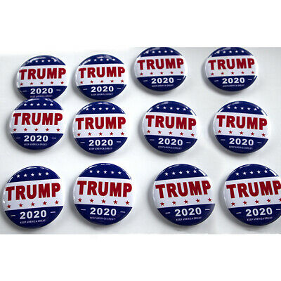 12X 2020 DONALD TRUMP KEEP AMERICA GREAT! Presidential Campaign Button Badge US