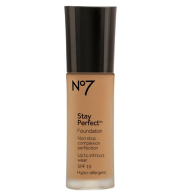 No7 Stay Perfect SPF15 Foundation 30ml SOFT ROSE NEW