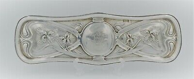 Antique Silver Art Nouveau Pen Pin Tray W Neale 1902 STUNNING