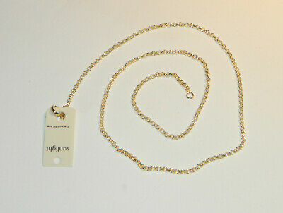 Collier Chaine Maille Forcat 50Cm Plaque Or Neuf