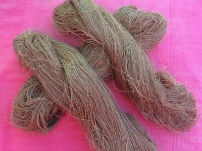 Antique French Linen Threads Skein Soft Cappuccino Fabulous Strong Natural Fibre