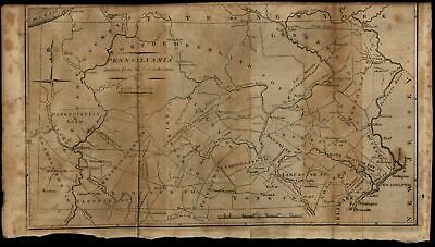 Pennsylvania state map 1796 Doolittle scarce American engraved map