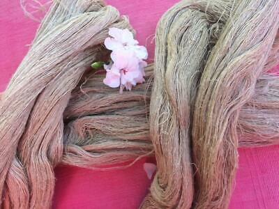 Antique French Linen Threads Skein Soft Oatmeal Fabulous Strong Natural Fibre
