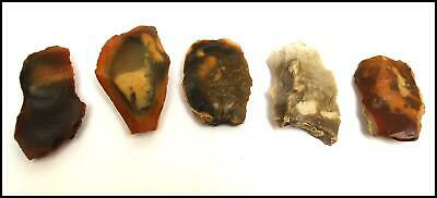 Mousterian paleolithic 5 scraper pick point arrowhead spearhead weapon british
