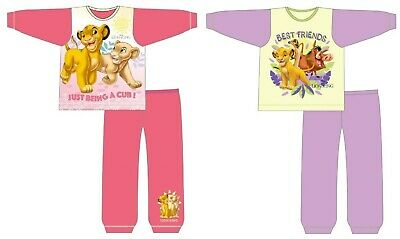 Girls Official Lion King Disney Character Pyjamas Kids Pjs Nightwear 18-24m-5Yrs