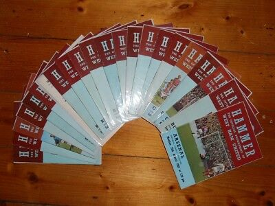 1969-70 WEST HAM UNITED HOME FOOTBALL PROGRAMMES - Your Choice - FREE Postage