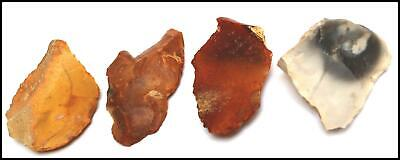 Mousterian paleolithic 4 point arrowhead spearhead scrapers axes weapon British