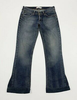 Levis 572 W28 tg 42 jeans donna usato bootcut zampa flared stretch vintage T5263