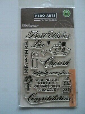 Hero Arts Poly Clear Clear Stamps Set Wedding Cl360 Bnip *Look*