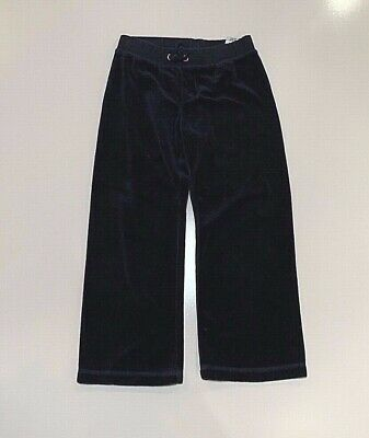 Juicy Couture Navy Blue Velour Pants for girls size S 4/5