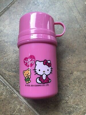 Girls Zak! Hello Kitty Drink Container With Twist Off Cup Lid, Pink Lunch Box