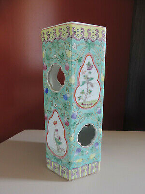 Antique Chinese Porcelain Vase Hat Stand Famille Rose Tongzhi Porcelaine Chine