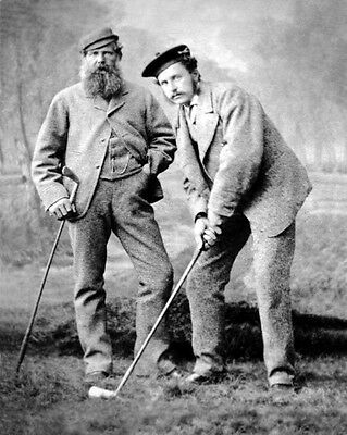 Pioneer Golfer OLD & YOUNG TOM MORRIS Glossy 8x10 Photo Vintage Print Poster