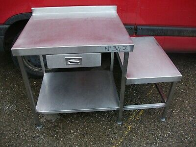 No342 Stainless Steel 2 Tier Table 1290Mm X 750Mm X 870Mm High