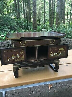Antique Chinese Drawer Wood Medicine Apothecary Cabinet Altar Table Herb