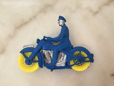 AUBURN Motorcycle Cop Police Toy Policeman V-Twin Harley Indian Rubber