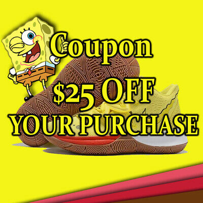 Nike Kyrie 5 Spongebob Coupon $25 OFF  On Single Purchase In Store Only Deliver