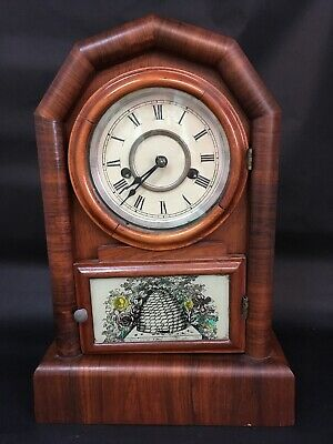 Antique Mantle Clock With Beehive Possibly New Haven For Restoration or Repair