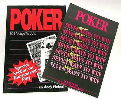!! 2 !! Books HOW TO WIN AT POKER ~ by Andy Nelson