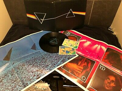 "Pink Floyd Double Lp Complete Posters Etc-"" The Dark Side Of The Moon ""-Shvl804"