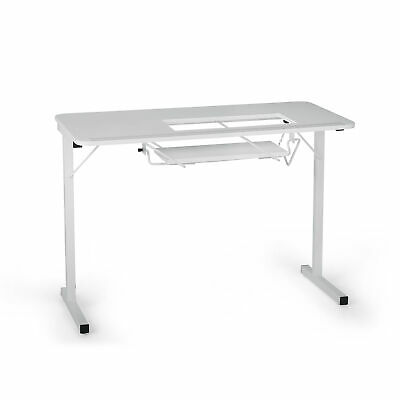 Fully Assembled Craft and Hobby Table White 71.5 x 101.5 x 50.5cm | Arrow 98601