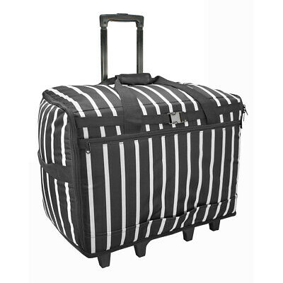 XL Sewing Machine Trolley Bag Black Stripe 63 x 43 x 30cm | Birch 006107