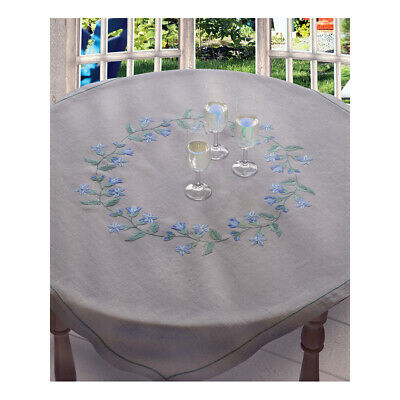 ANCHOR | Embroidery Kit: Bluebell - Large Linen Tablecloth | 92400002330