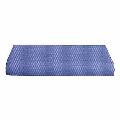 Portable Crib Fitted Sheet Pindot Blue New