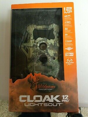Wildgame Innovations Cloak 12 Pro Lightsout Trubark No Glow Infared Game Camera