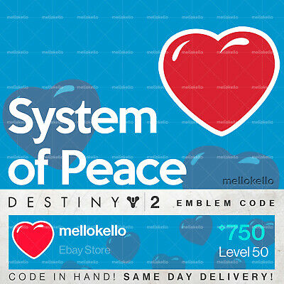 Destiny 2 System of Peace Emblem IN HAND!! SAME DAY DELIVERY!!