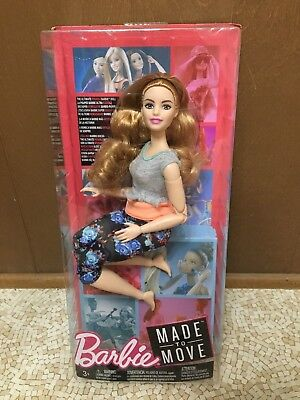 Barbie Made to Move Ultimate Posable Articulated Jointed Curvy Red Hair Doll