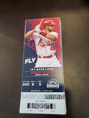St. Louis Cardinals Colorado Rockies MINT Season Ticket 8/23/19 2019 MLB Stub