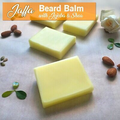 Jaffa BEARD BALM _Organic Coconut Oil, Shea & Jojoba_Bar for a softer beard/skin