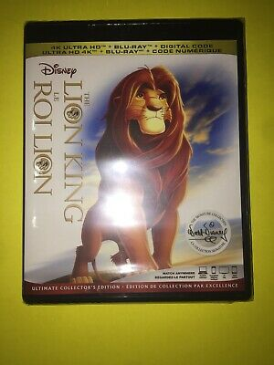 DISNEY THE LION KING 4K ULTRA HD & BLURAY & DIGITAL SET  ( NO Slip Cover )