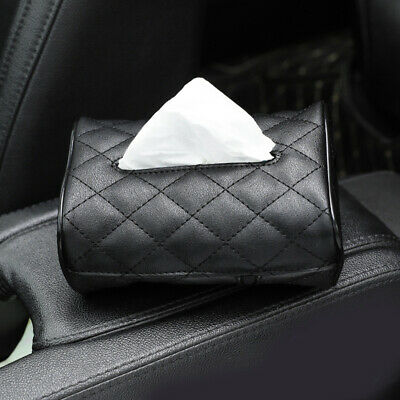 1pc High Quality Leather Car Room Tissue Box Manual Sewing Practical Organizer