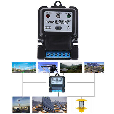 1Pc 6V 12V 10A Auto Solar Panel Charge Controller Battery Charger Regulator PWM~