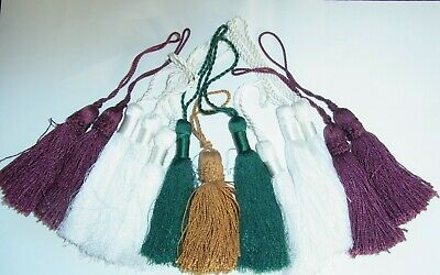 Large Tassels Decorative 13 Pieces Green White Burgundy Gold