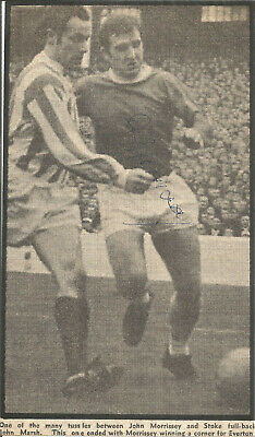 Football Autograph Johnny Morrissey Everton Signed Newspaper Photograph F1618