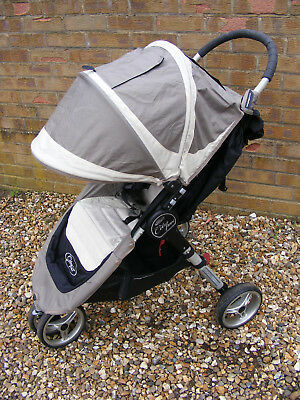 Grey Single Seat City Mini Stroller Baby Jogger Buggy Pushchair with Quick Fold