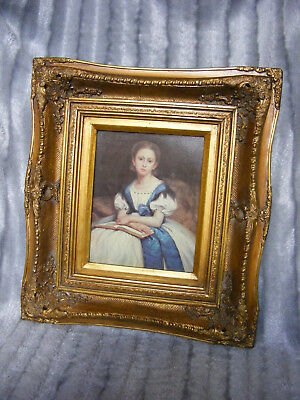 Lovely Picture Vintage Rococo French Antique Style Ornate Gold Gilt Gild Frame