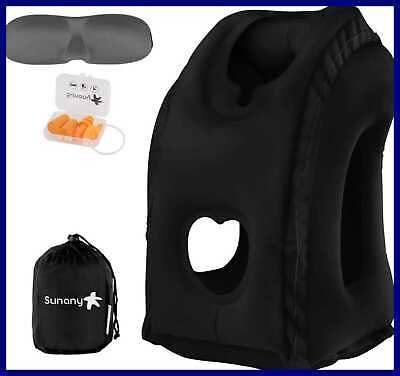 Travel Pillow Inflatable Neck Airplane W Comfortable Hood Suitable For Adult & K