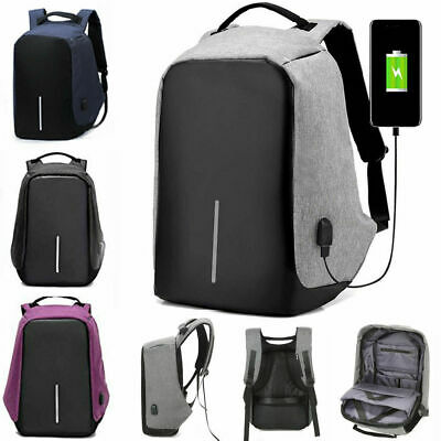 Sac à dos USB Anti-Vol Port USB Étanche Multimédia Ordinateur Portable Tablette