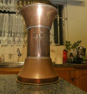 Vintage Weighted Copper Vase