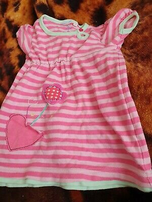 Lovely Girls Blue Zoo Top Dress Age 9-12 Months