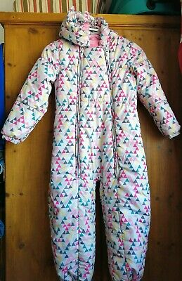 Girls NEXT Snowsuit All In One Winter Coat Age 5-6 Years